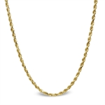 Diamond Cut Rope 14k Gold Necklace - 18 in.