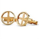 2013 1/10 oz Gold Krugerrands Cuff Links (Polished Plain)