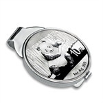2014 1 oz Silver Panda Money Clip (Sterling Silver Polished)