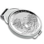 2014 1 oz Silver Koala Money Clip (Sterling Silver Polished )