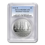 2010-W Disabled American Vets $1 Silver Commem PR-70 DCAM PCGS
