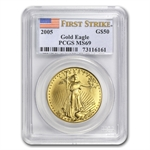 1 oz Gold American Eagle PCGS/NGC MS-69 (Random Year)