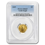 1/10 oz Gold American Eagle PCGS/NGC MS-69 (Random Year)