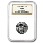 1/2 oz Platinum American Eagle PCGS/NGC MS-69 Random Year