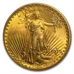 1915-S $20 St. Gaudens Gold Double Eagle - MS-65 NGC
