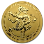 2012 10 oz Gold Lunar Year of the Dragon (Series II)