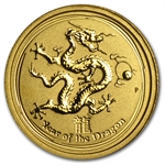 2012 1/20 oz Gold Lunar Year of the Dragon (Series II)