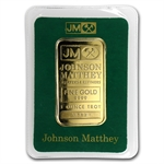 1 oz Johnson Matthey Gold Bar .9999 Fine (Logo Back, In Assay)