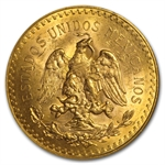 Mexico 1928 50 Pesos Gold Coin - MS-63 NGC