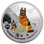 2011 1 oz Proof Silver German Shepherd - Working Dog