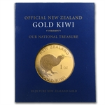 1 oz New Zealand Gold .9999 Kiwi (In Blue Assay Card)