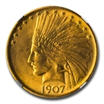 1907 $10 Indian Gold Eagle - No Motto - MS-63 NGC