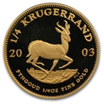 2003 1/4 oz Proof Gold South African Krugerrand