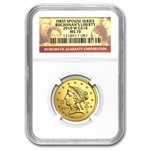 2010-W 1/2 oz Gold Buchanan's Liberty MS-70 NGC