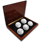 2011 5 oz Silver ATB 5-Coin Set in Elegant Display Box