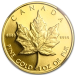 1989 1 oz Proof Gold Canadian Maple Leaf NGC PF-68