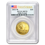 2011-W 1/2 oz Gold Julia Grant PCGS MS-70 - First Strike