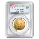 2011-W 1/2 oz Uncirculated Gold Julia Grant PCGS MS-69 (FS)