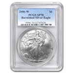 2006-W (Burnished) Silver American Eagle MS-70 PCGS