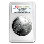 2011 5 oz Silver ATB - Chickasaw MS-69 DMPL First Strike PCGS