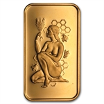 1 oz Pamp Suisse Gold Bar - Lady of the Beehive (no assay)
