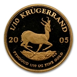 2005 1/10 oz Proof Gold South African Krugerrand