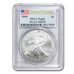 2004 Silver American Eagle - MS-70 PCGS - First Strike