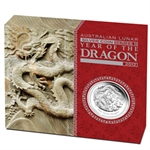 2012 Year of the Dragon - 1 oz Proof Silver Coin (Series II)