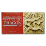 2012 Year of the Dragon - Silver 3-Coin Proof Set - (Series II)