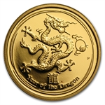 2012 1/4 oz Proof Gold Lunar Year of the Dragon (Series II)