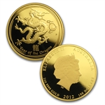 2012 Proof Gold 1.35 oz Year of the Dragon (Series II) 3-Coin Set