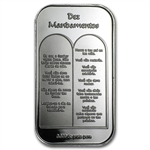 1 oz Ten Commandments Silver Bar (in Portuguese)