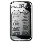 1 oz Ten Commandments Silver Bar (in German)