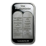 1 oz Ten Commandments Silver Bar (In Spanish)