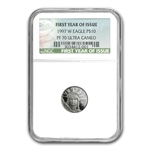 1997-2008 1/10 oz Proof Platinum Eagle PF-70 NGC Registry Set