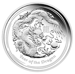2012 Year of the Dragon 1 oz Silver Typeset Collection (4 Coins)