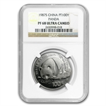 1987 1 oz Proof Platinum Panda NGC PF-68