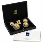 1990 4-Coin Proof Gold Britannia Set (w/Box & CoA)