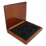 Brand New Custom Wood Display Box for 5-Coin ATB sets