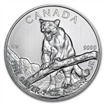 2012 1 oz Silver Canadian Wildlife Series - Cougar