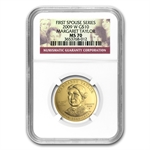 2009-W 1/2 oz Uncirculated Gold Margaret Taylor MS-70 NGC