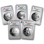 2011 5 oz Silver ATB 5-Coin Set MS-69 DMPL First Strike PCGS