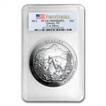 2011 5 oz Silver ATB Glacier MS-69 DMPL First Strike PCGS