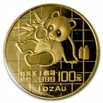 1989 1 oz Gold Chinese Panda - Large Date (Sealed)