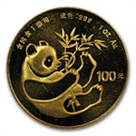 1984 1 oz Gold Chinese Panda (Light Abrasions)