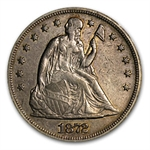 1872 Liberty Seated Dollar - Almost Uncirculated Detail - Cleaned
