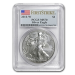 2011-W (Burnished) Silver American Eagle MS-70 PCGS (FS)