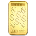 1 oz Johnson Matthey Gold Bar (RNB) .9999 Fine