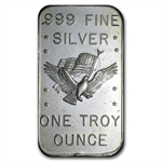 1 oz U.S. Assay Office Silver Bar .999 Fine