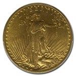1908 $20 St. Gaudens Gold - With Motto - MS-63 PCGS